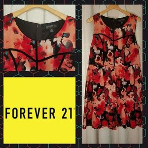 Retro floral dress by Forever 21 size 1x